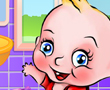 Sevimli Bebek Çamaşır Yıkama