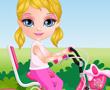 Bebek Barbie Bisiklet Sürme