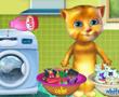 Konuşan kedi yıkama ve Giyim