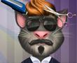 Konuşan Kedi Tom Saç Salonunda