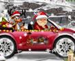 Noel Baba Hediye Dağıtıyor