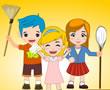 Çocukların Ev Temizliği